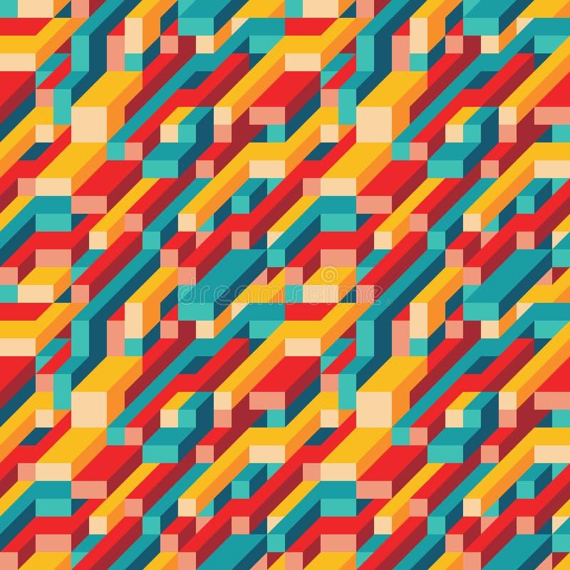 Abstrakter geometrischer Vektorhintergrund für Darstellung, Broschüre, Website und andere Projektplanung Mosaik farbiges nahtlose vektor abbildung