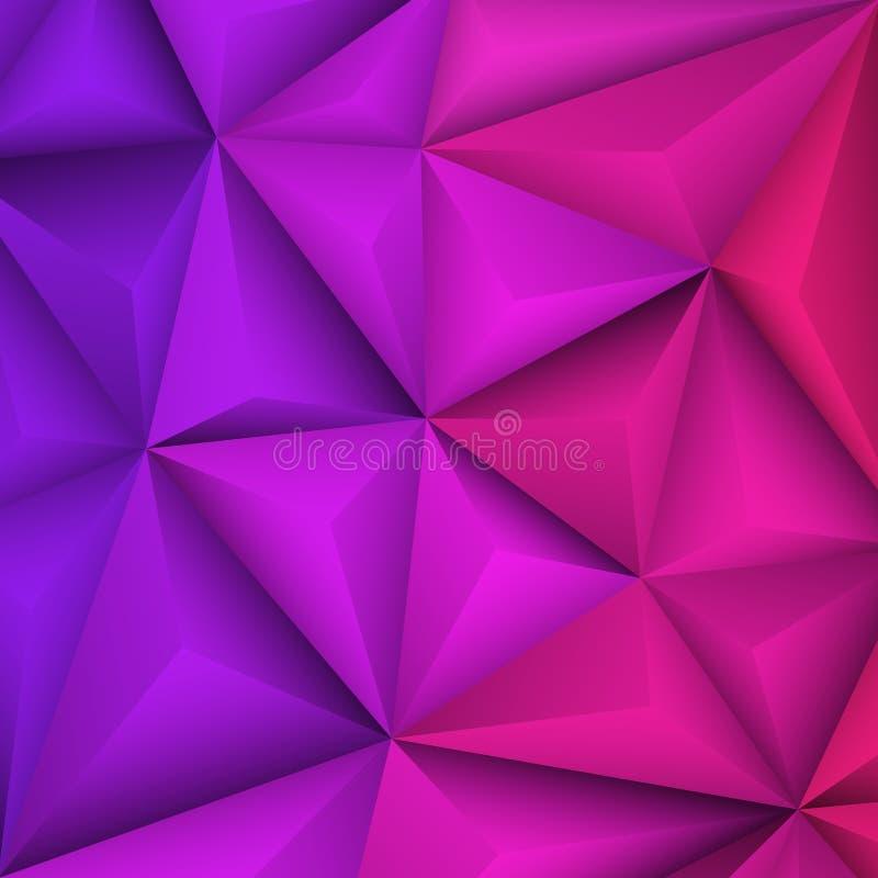 Abstrakter geometrischer violetter Hintergrund Auch im corel abgehobenen Betrag vektor abbildung