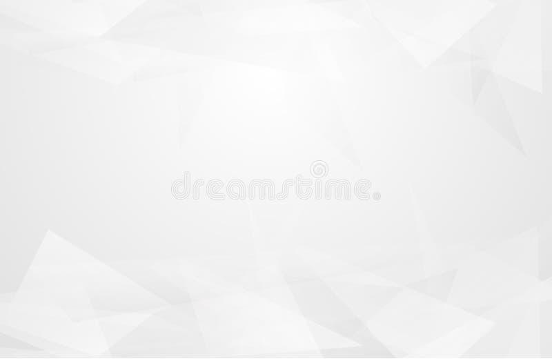 Abstrakter geometrischer weißer und grauer Farbhintergrund Vektor, Illustration stock abbildung