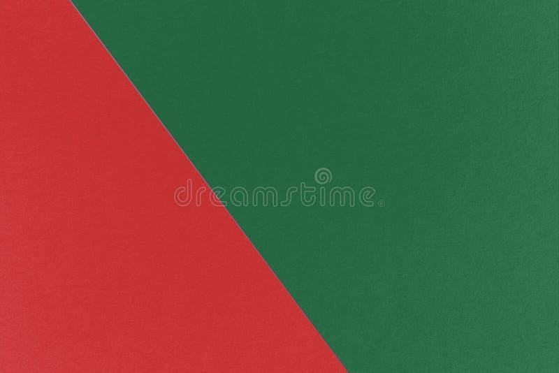Abstrakter geometrischer Weihnachtshintergrund mit Cal Poly Pomona Green- und Ziegelfarben, Aquarellpapierbeschaffenheit lizenzfreies stockbild