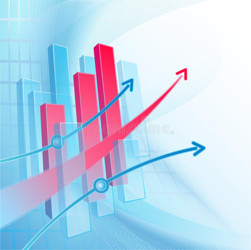 Abstrakter Geschäftshintergrund mit Diagramm vektor abbildung