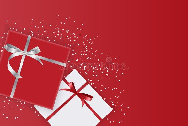 Abstrakter Geschenkbox-Feiertags-Gruß-Hintergrund Auch im corel abgehobenen Betrag stock abbildung