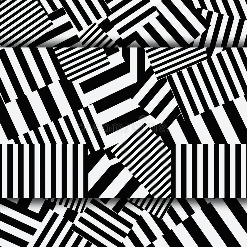 Abstrakter gestreifter strukturierter geometrischer nahtloser Rüttler stock abbildung