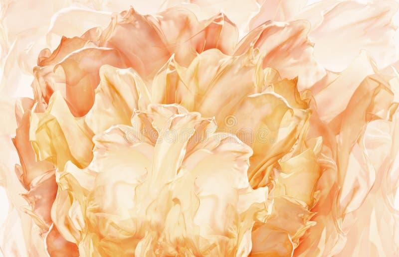Abstrakter Gewebe-Blumen-Hintergrund, künstlerischer wellenartig bewegender Blumenstoff, stockfoto