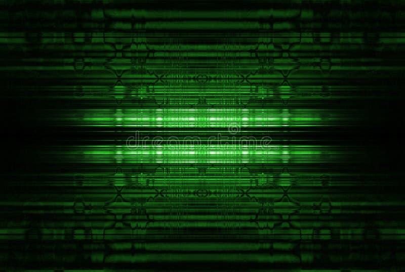 Abstrakter glühender Hintergrund der Grünen Grenzen stockbilder