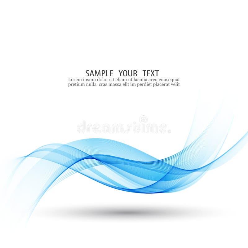Abstrakter glatter Farbwellenvektor Blaues Wellendesign des Rauches vektor abbildung