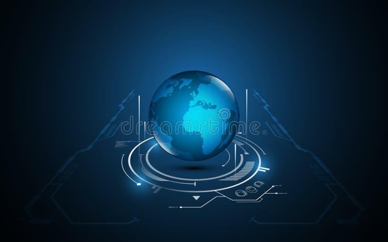 Abstrakter globaler Technologiekommunikationsmusterbewegungsperspektiven-Konzept- des Entwurfeshintergrund stock abbildung