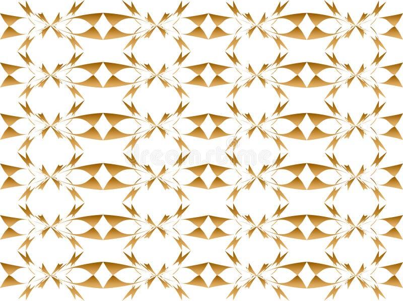 Abstrakter goldener Blumenhintergrund stock abbildung