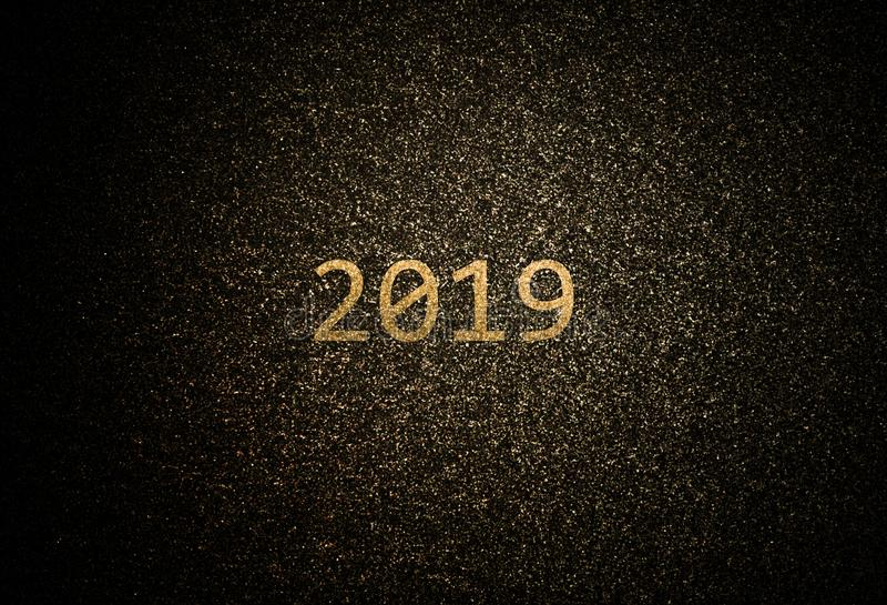 Abstrakter goldener Hintergrund 2019 stockfoto