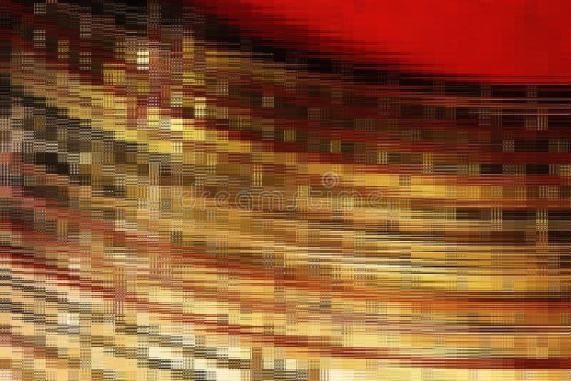 Abstrakter goldener Mosaikblock lizenzfreies stockfoto