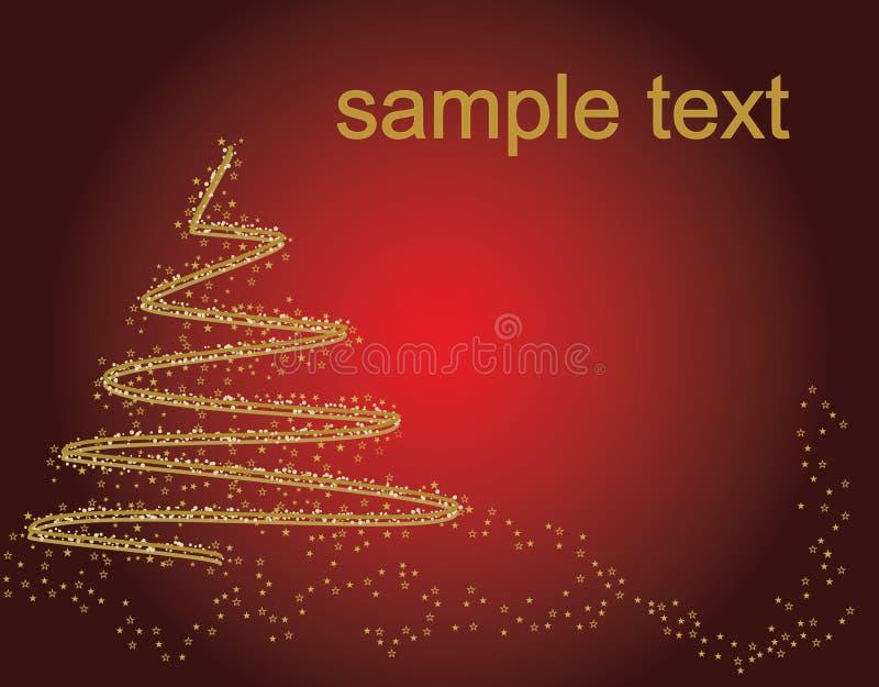 Abstrakter goldener Weihnachtsbaum vektor abbildung