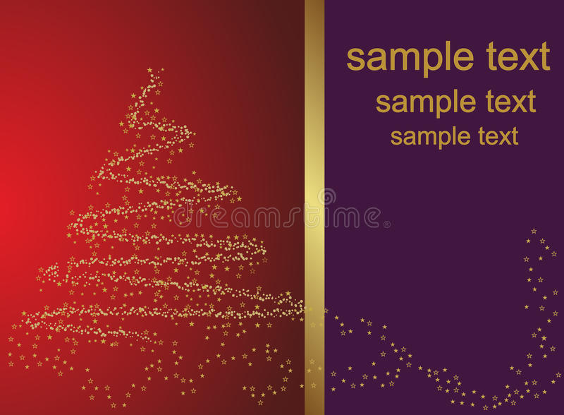 Abstrakter goldener Weihnachtsbaum lizenzfreie abbildung
