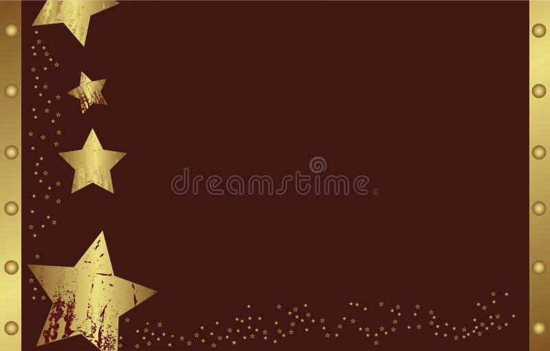 Abstrakter goldener Weihnachtsstern lizenzfreie abbildung