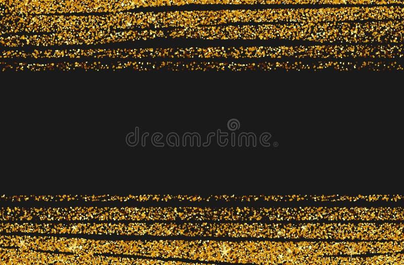 Abstrakter Goldfunkelnhintergrund Glänzende Scheine für Karte vektor abbildung