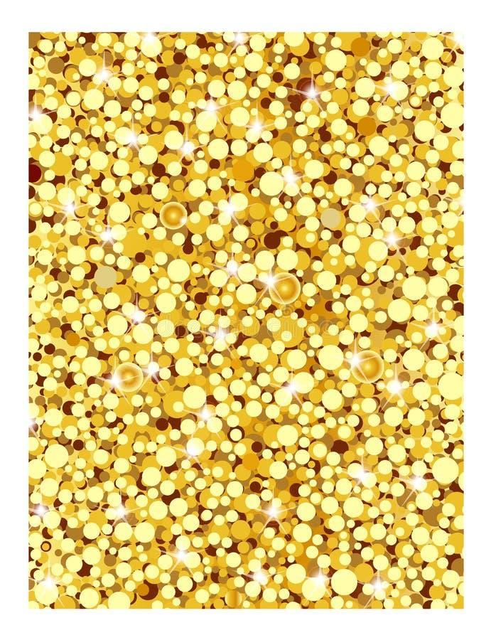 Abstrakter Goldfunkelnhintergrund Helle Scheine für Feiertag VE lizenzfreie stockfotos