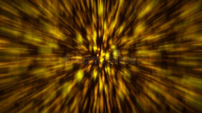 Abstrakter Goldunschärfenhintergrund Zoom bacdrop stock abbildung