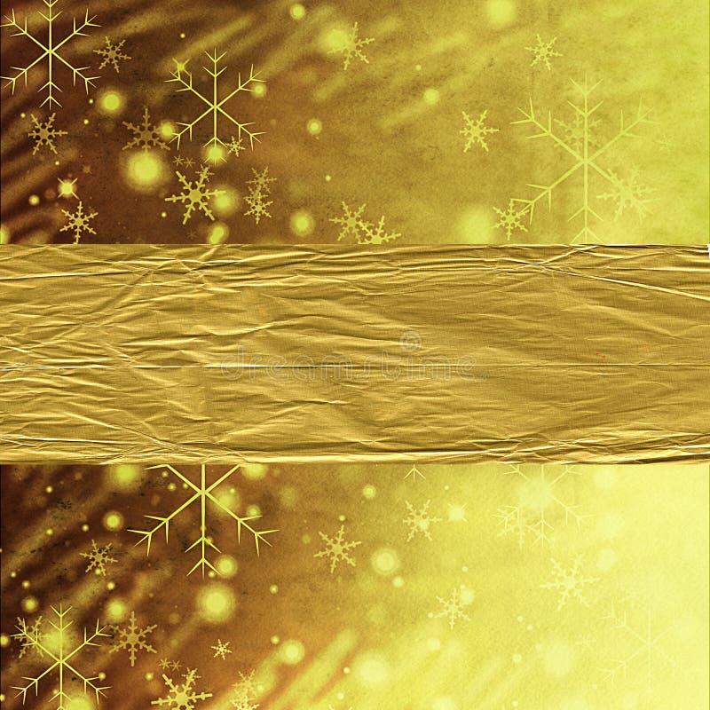 Abstrakter Goldweihnachtshintergrund stock abbildung