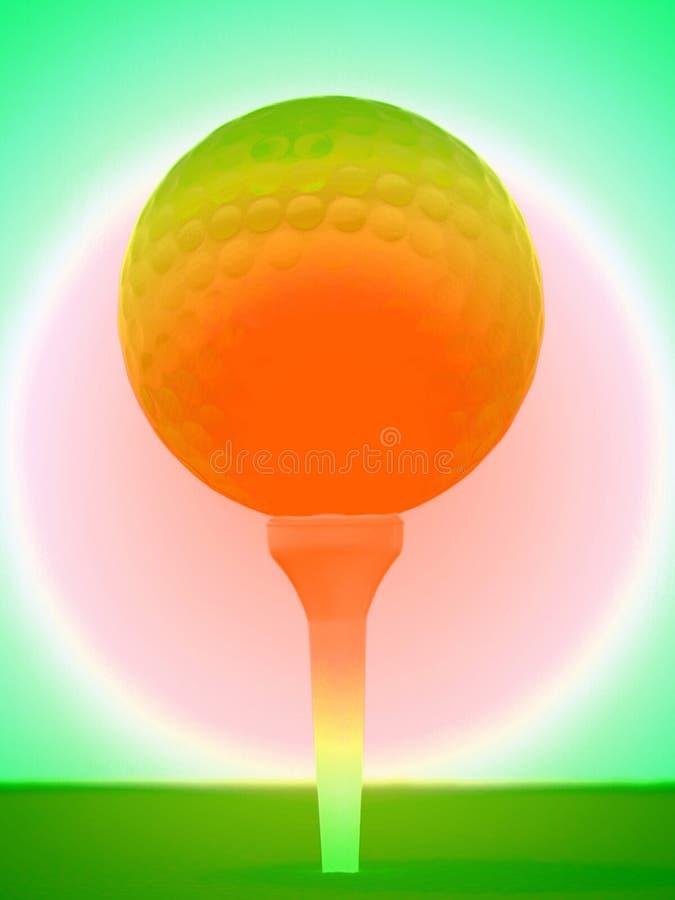 Abstrakter Golfball lizenzfreie abbildung