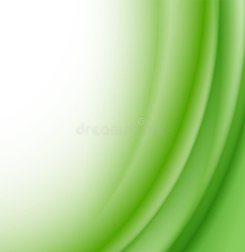 Abstrakter grüne Wellen-Hintergrund lizenzfreie abbildung