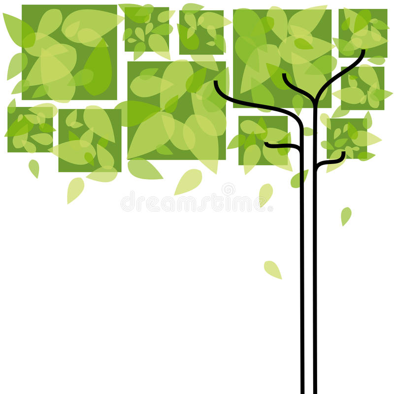Abstrakter grüner Baumhintergrund lizenzfreie abbildung