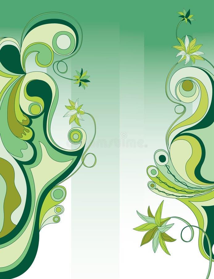 Abstrakter grüner Blumenhintergrund vektor abbildung