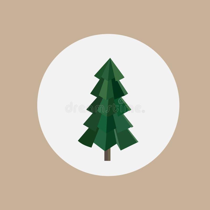 Abstrakter grüner Dreieckmuster Weihnachtsbaum vektor abbildung