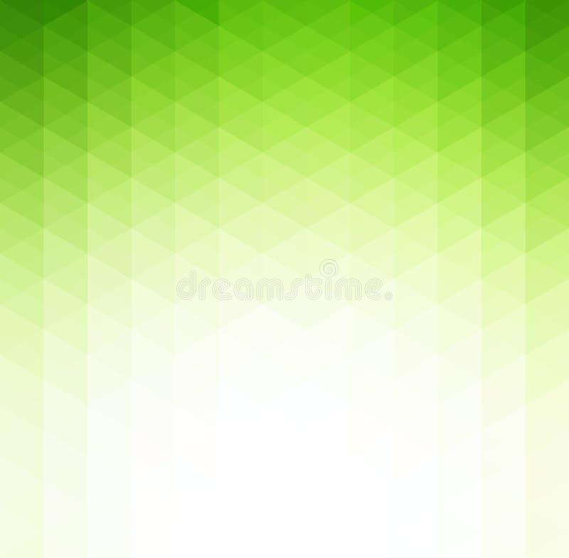 Abstrakter grüner geometrischer Technologiehintergrund stock abbildung