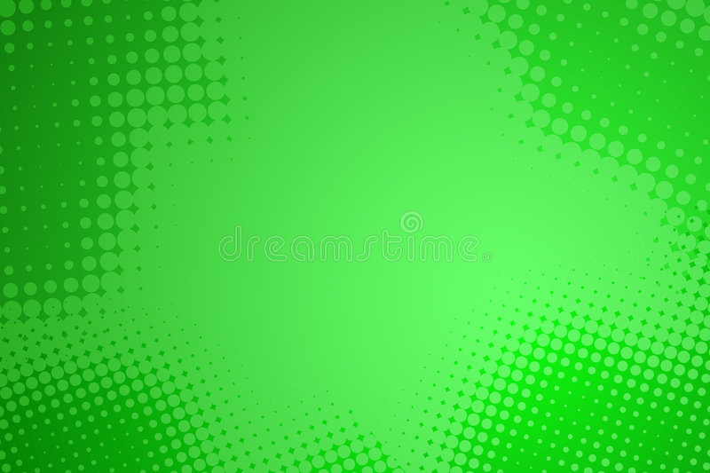 Abstrakter grüner Halbtonpunkthintergrund stock abbildung