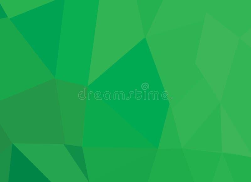 Abstrakter grüner Hintergrund mit Dreieckformen und diagonaler Linie Gestaltungselemente stock abbildung