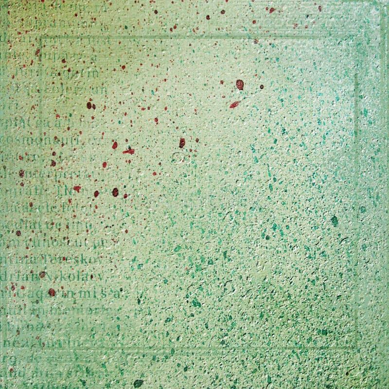 Abstrakter grüner Hintergrund mit Flecken lizenzfreie abbildung