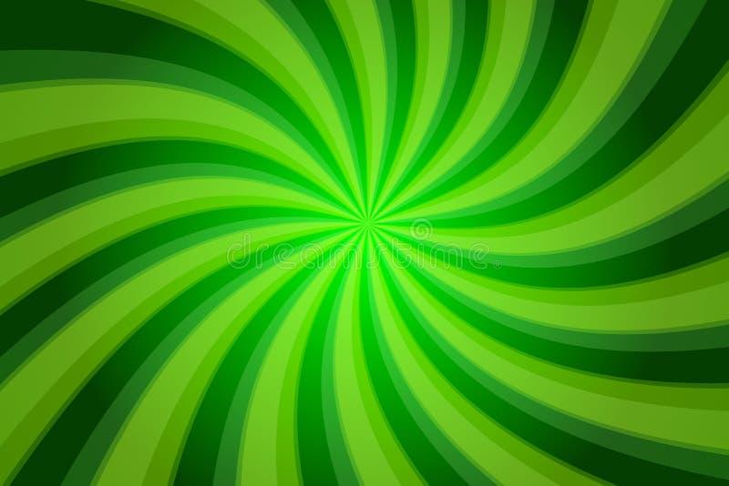Abstrakter grüner Hintergrund mit verdrehten Streifen lizenzfreie abbildung