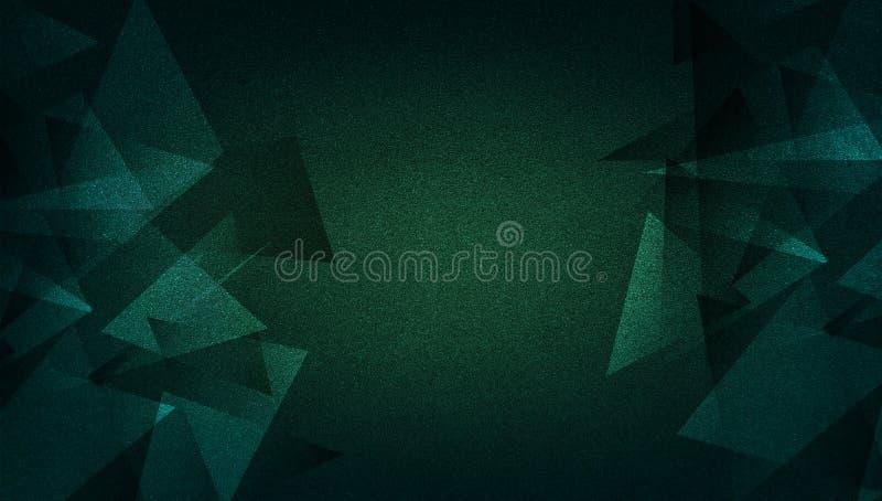 Abstrakter grüner Hintergrund schattiertes gestreiftes Muster und Blöcke in den diagonalen Linien mit Weinlesegrünbeschaffenheit stock abbildung