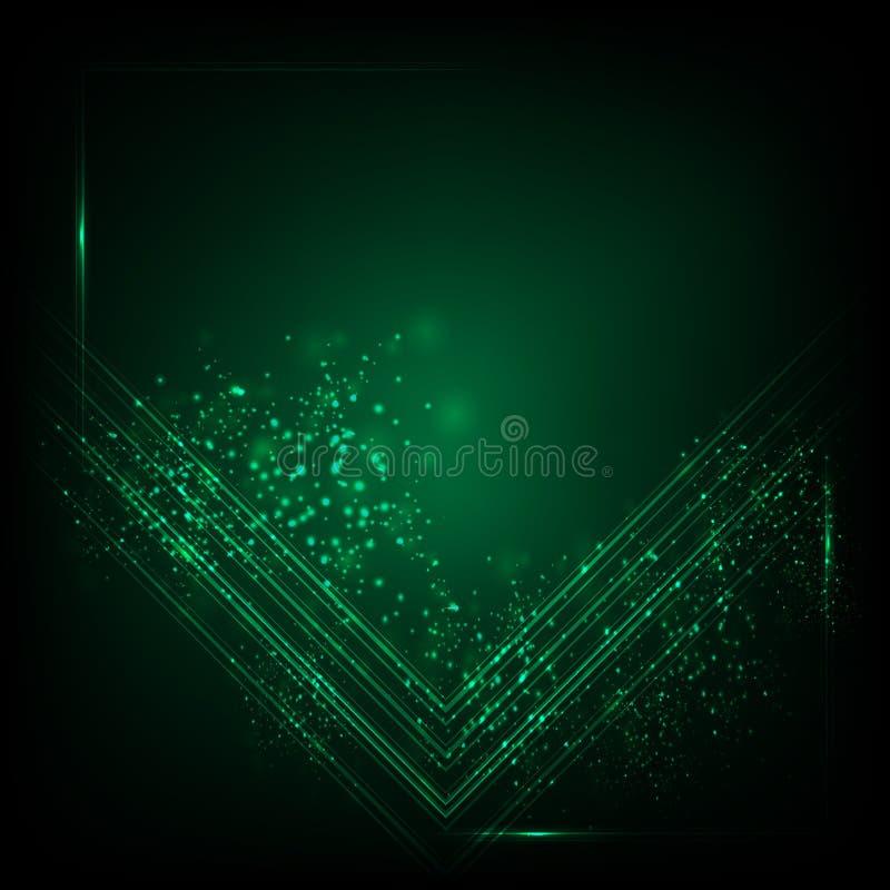 Abstrakter grüner Hintergrund Abstrakter Technologie-Hintergrund stock abbildung