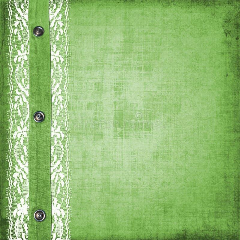 Abstrakter grüner Jeanshintergrund mit Niet stock abbildung