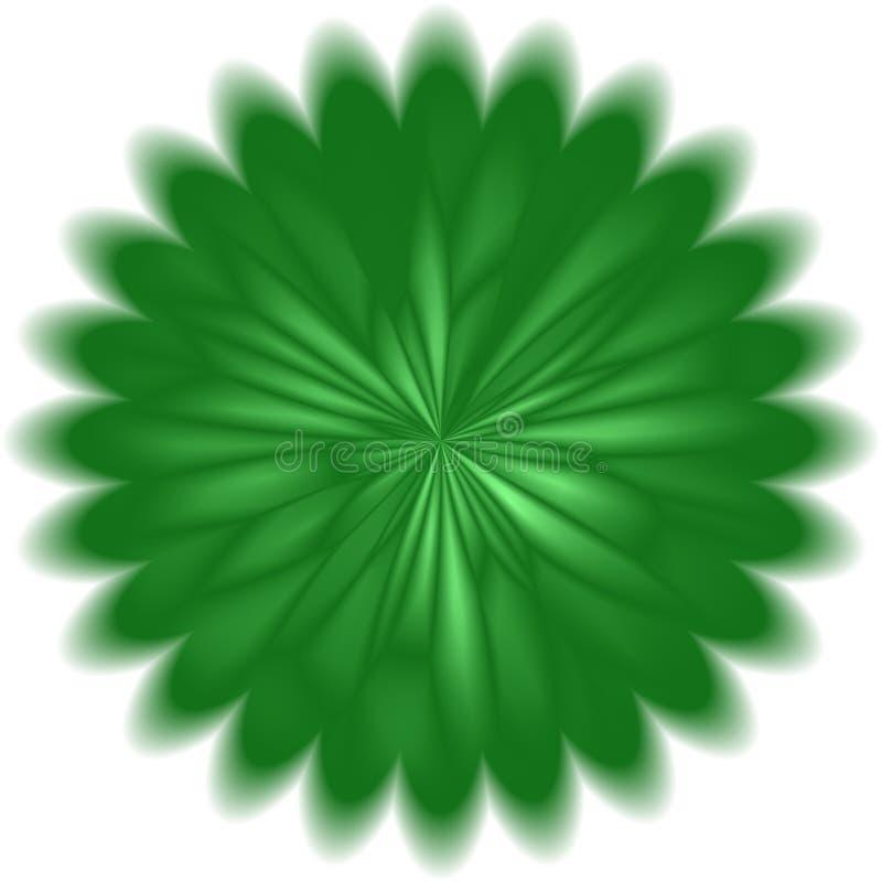 Abstrakter grüner Löwenzahnkreishintergrund vektor abbildung