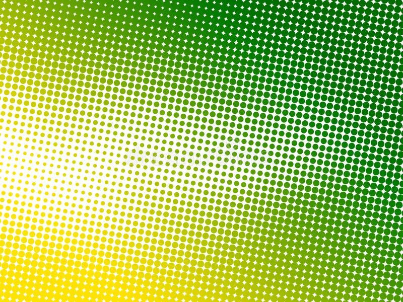 Abstrakter grüner Punkthintergrund lizenzfreie abbildung
