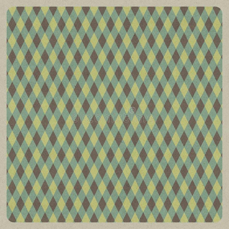 Abstrakter grüner Retro- Musterhintergrund, Recyclingpapierhandwerk lizenzfreie abbildung