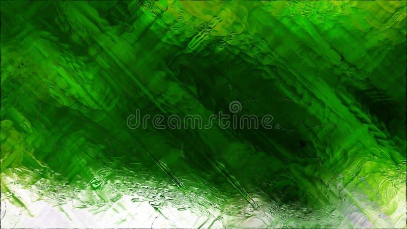 Abstrakter grüner und weißer Glaseffekt-Farben-Hintergrund lizenzfreie abbildung