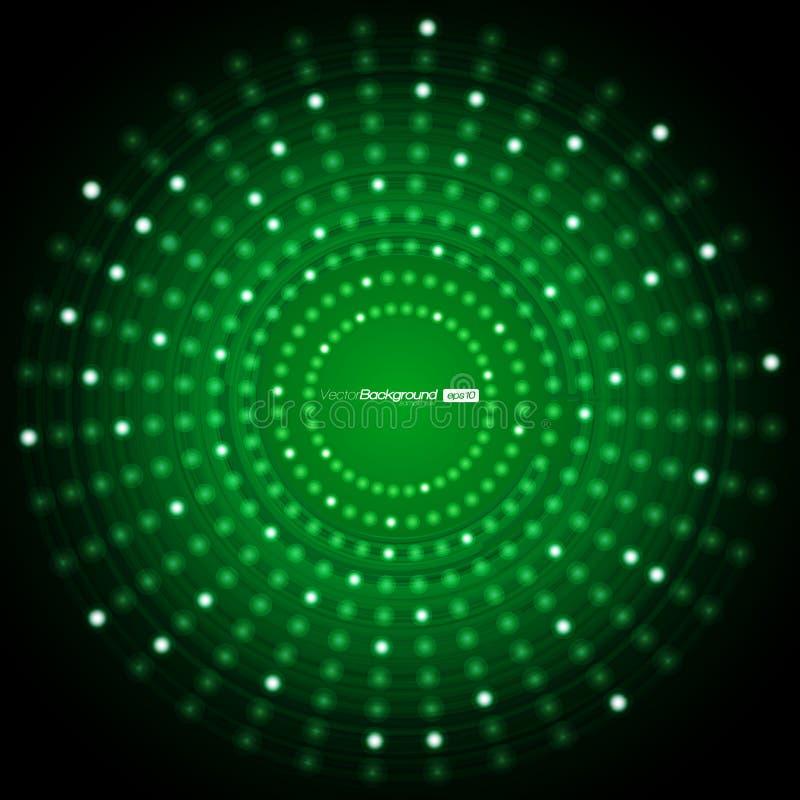 Abstrakter grüner vektorhintergrund vektor abbildung