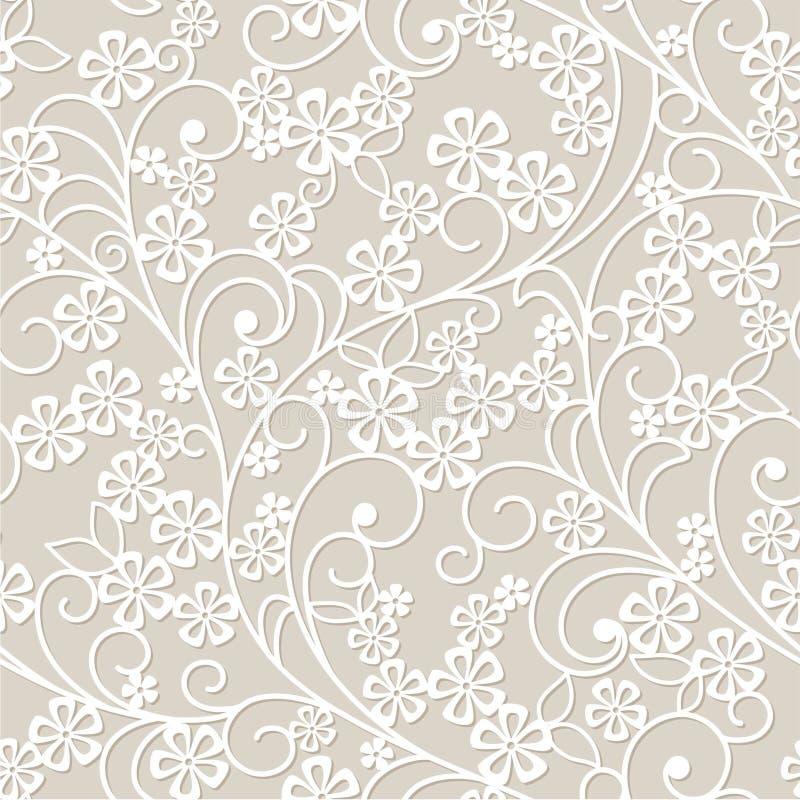Abstrakter grauer Blumenhintergrund stock abbildung