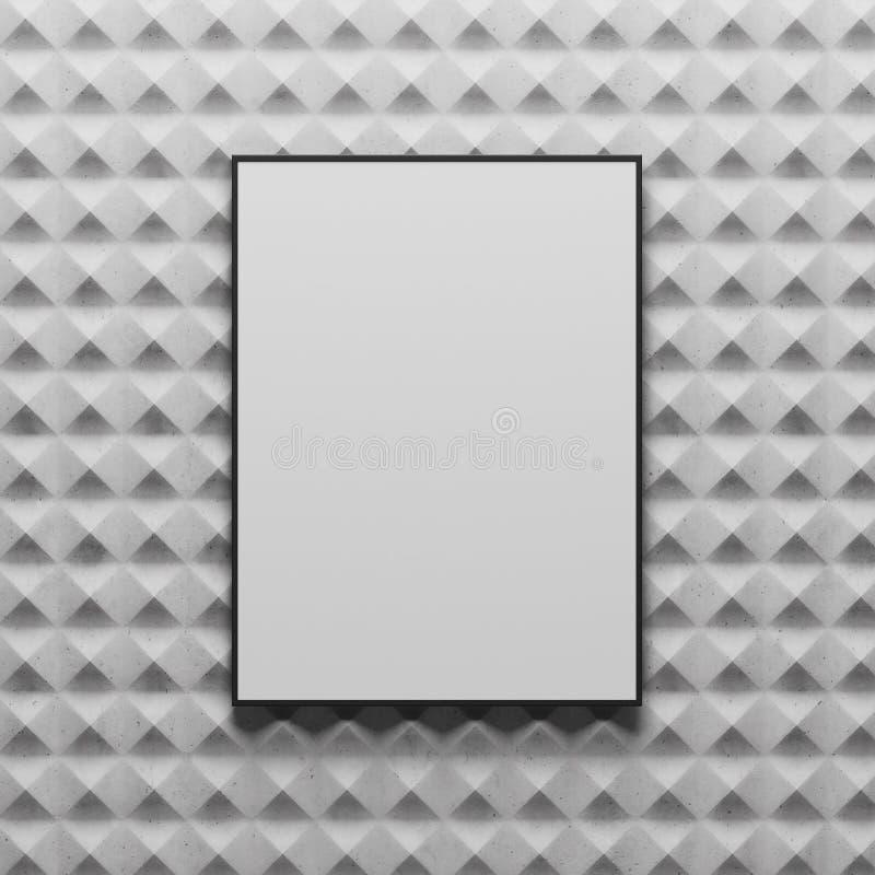 Abstrakter grauer Fliesenhintergrund, Plakat vektor abbildung
