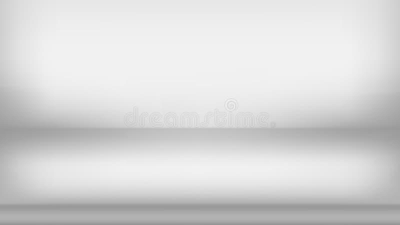 Abstrakter grauer Hintergrund Leerer Raum mit Scheinwerfereffekt Vektor eps10 lizenzfreie abbildung
