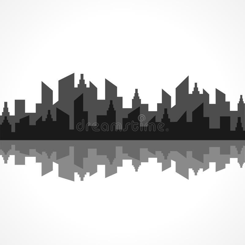 Abstrakter grauer Immobilienentwurf stock abbildung