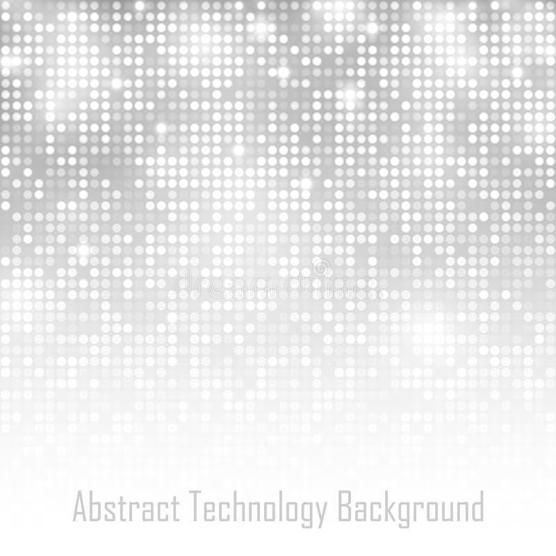 Abstrakter Gray Technology Glow Background stock abbildung