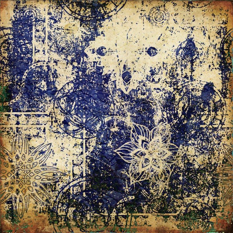 Abstrakter grunge Grafikhintergrund lizenzfreie abbildung