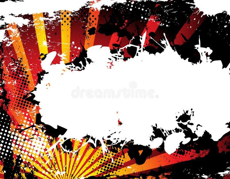 Abstrakter Grunge Halbtonhintergrund vektor abbildung