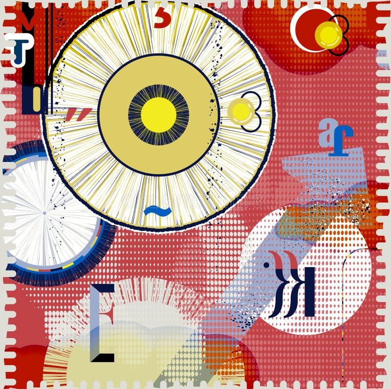 Download Abstrakter Grunge Hintergrund Vektor Abbildung - Illustration von aufbau, kreis: 27729895