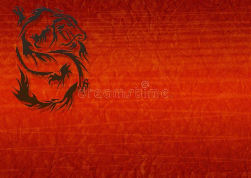 Abstrakter grunge Hintergrund mit einem Drachen vektor abbildung