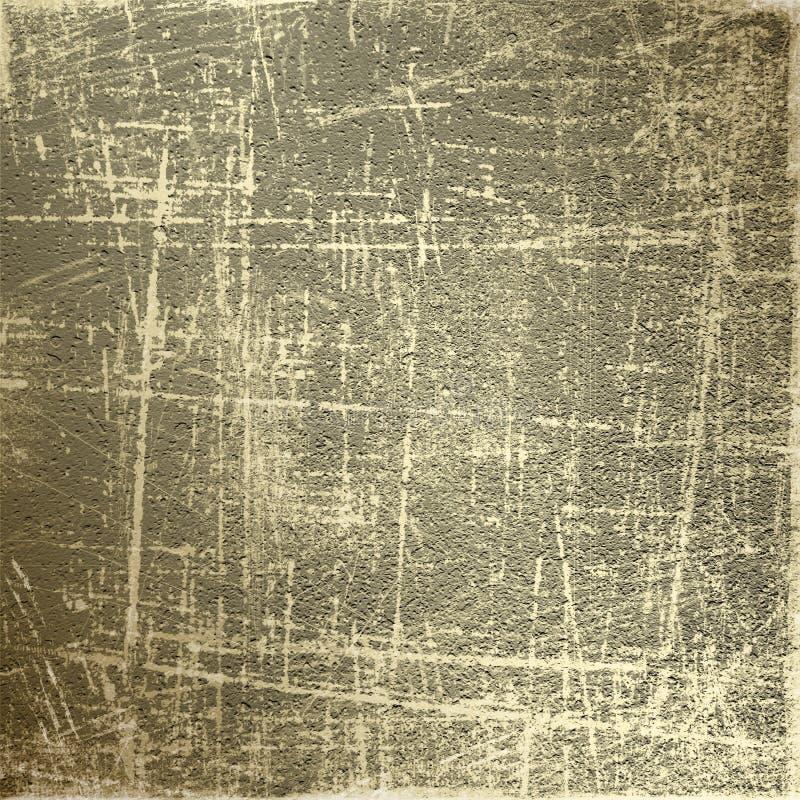 Abstrakter grunge Hintergrund mit Goldkratzern lizenzfreie abbildung