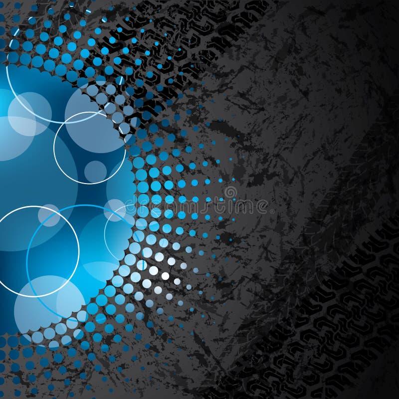 Abstrakter grunge Hintergrund mit Halbtonbild lizenzfreie abbildung